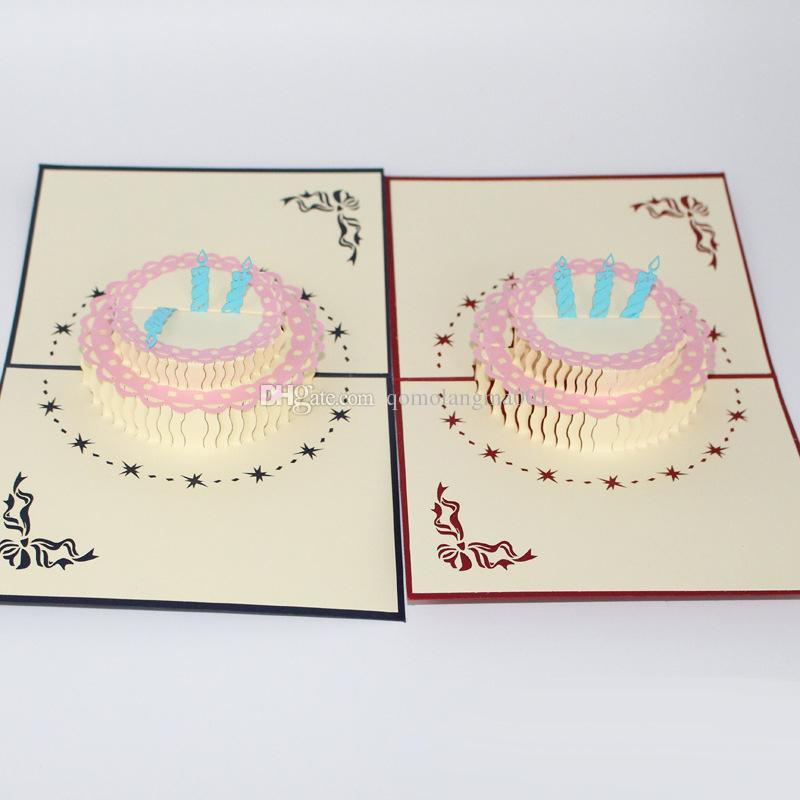 Neue 3D handgemachte Geburtstagsgeschenk Karte für Kinder 3d reizende Grußkarte nette Postkarte