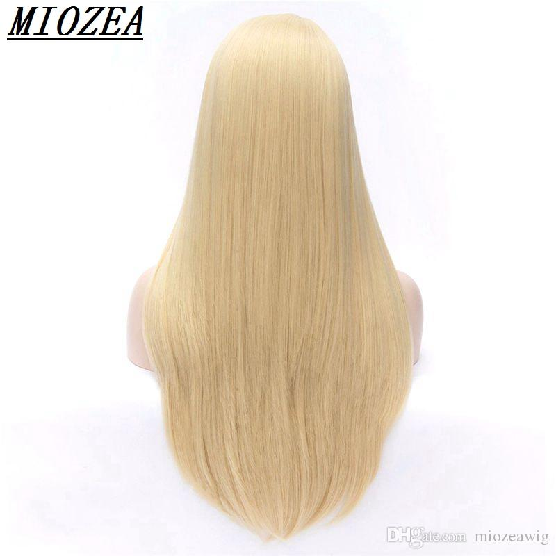 Women Synthetic hair High Temperature Fiber Long Straight Wig Golden brown mixed 26inch Cosplay Wigs