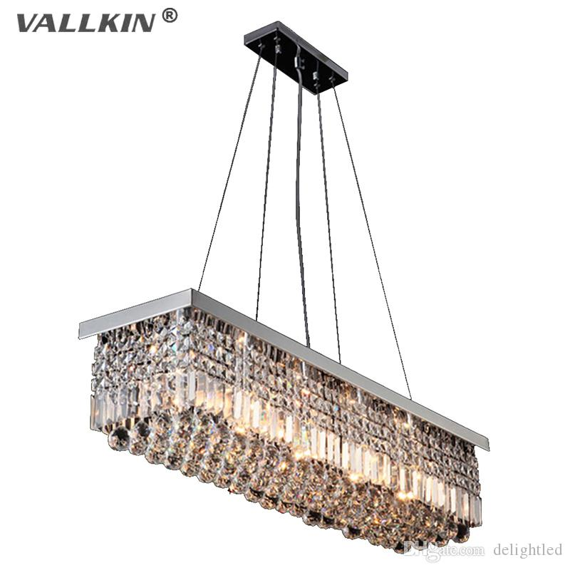 Rectangular crystal chandelier dining room length 100cm led rectangular crystal chandelier dining room length 100cm led cyrstal pendant light ceiling lamp chandiliers lighting 100 original pendant lamp led crystal mozeypictures Images