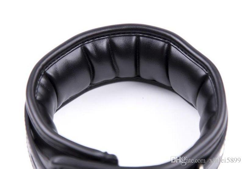 Leather Sex Adult Collars Slave Collar With Chain Leash Sex Neck Bondage Restraints BDSM Sex Toys For Couple