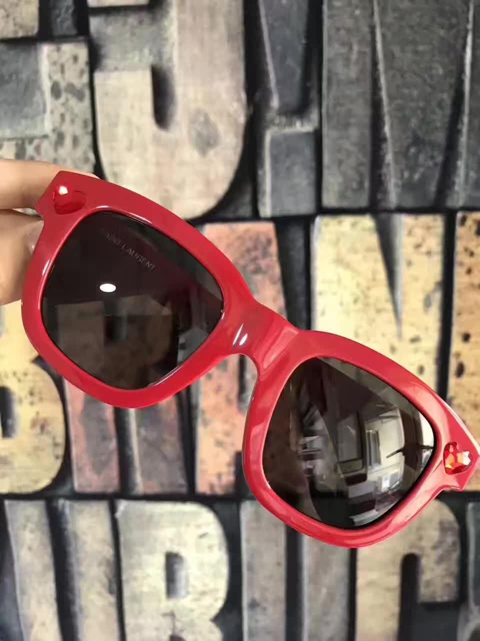 211b3a34fe Quare Red black Len Square Sunglasses SL 100 LOLITA Brand Designer ...