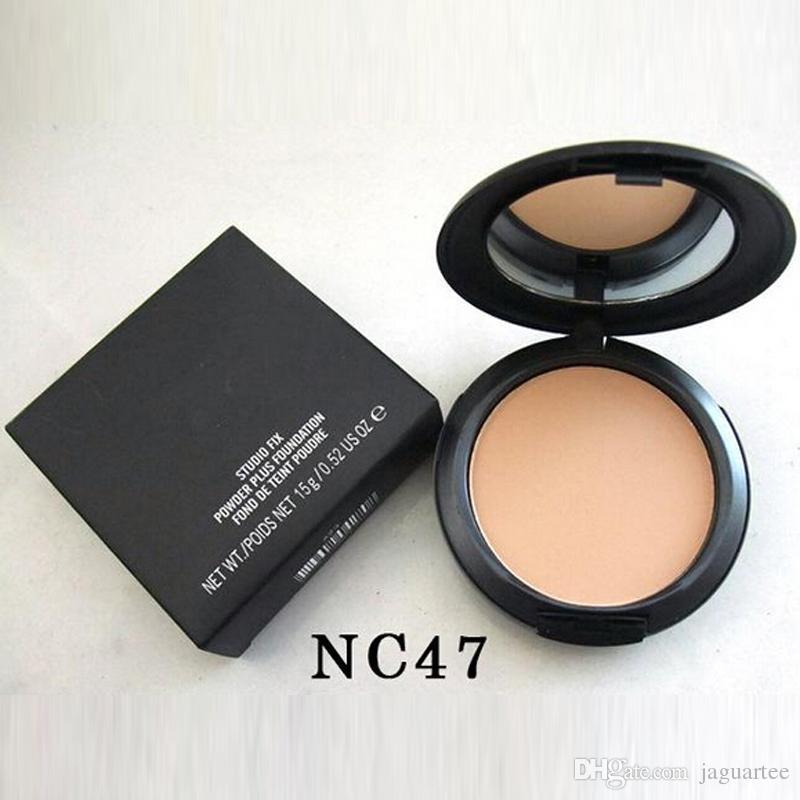 Hot sale New Foundation Brand Makeup Studio Fix Powder Cake Easy to Wear Face Powder Blot Pressed Powder Sun Block Foundation 15g NC & NW