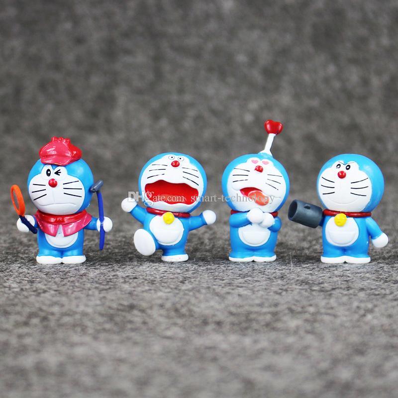 EMS 3.5-5cm 8 스타일 애니메이션 도라에몽 PVC 액션 피규어 Christmas Gift 무료 배송