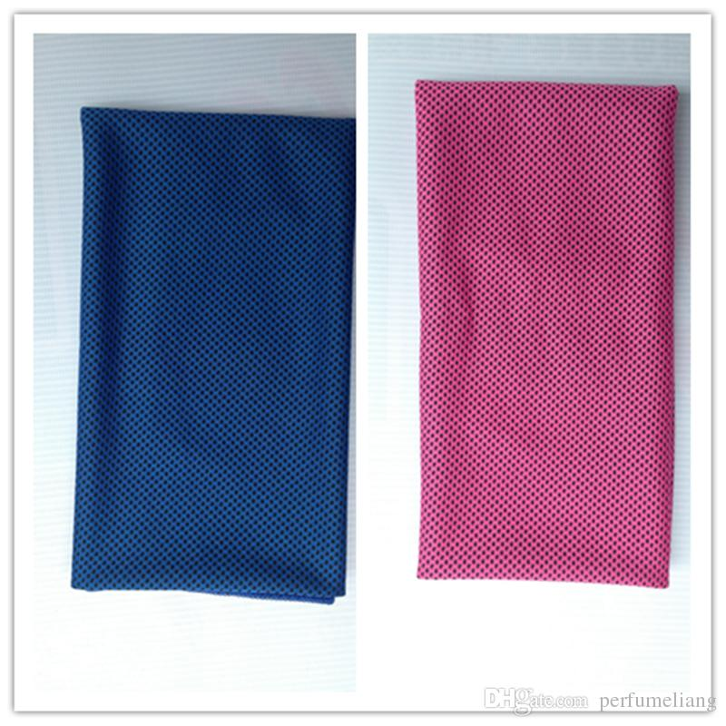 90*30cm double layers ice Cold Towels summer Exercise Sports Ice Cool Towel Hypothermia Cooling Scarf Ties Neck Scarves multicolor JF-756