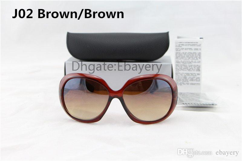 Gafas de sol del diseñador de las señoras de la alta calidad del envío de la tortuga Marco grande UV400 Gafas de sol con la caja de la caja es seleccionados