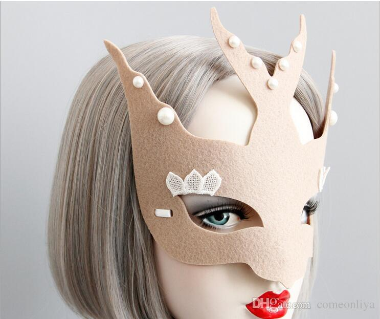 Half face masks demon in belt for adjustable in various strang modelling as pumpkin swallow elk fox terrible mask Halloween masquerade ball