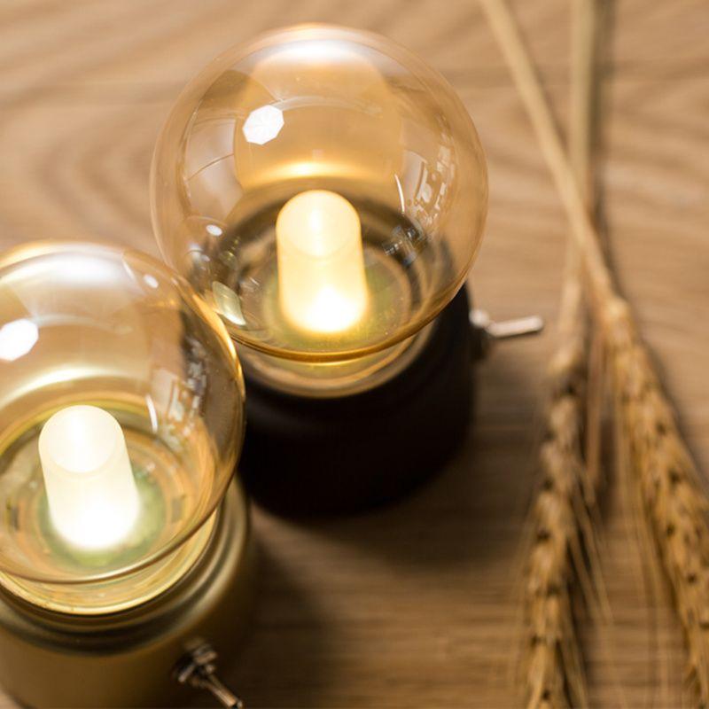 British retro LED bulb light lamp Metallic glass usb lamp atmosphere rechargeable energy saving night light indoor lighting gift ZJ0328