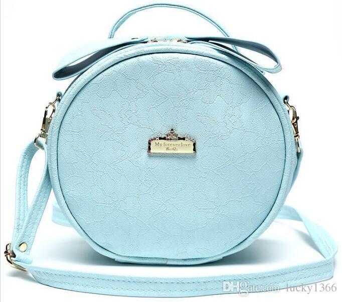 New Cosmetic Bag Round Mini Women Makeup bag Travel Portable Handbag Crossbody Bags Multi-function cosmetic bag