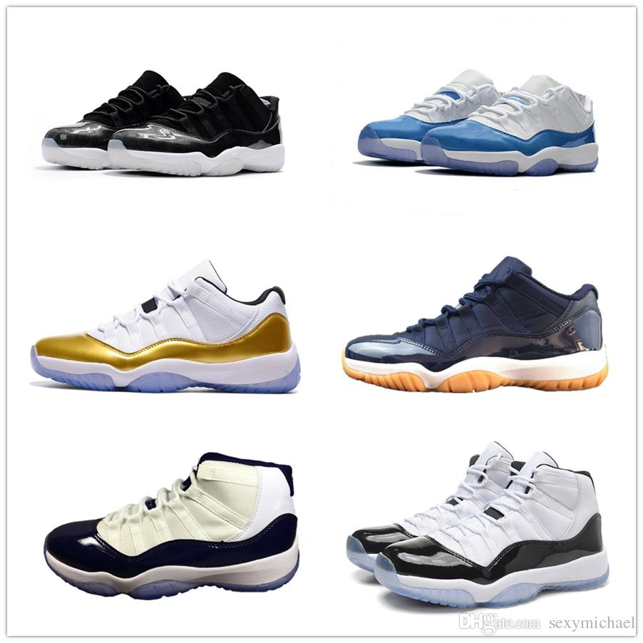 b585850326cb 11s Classic 11 Basketball Shoes High Low Sports Bred Midnight Navy 72 10  Concord Legend Gamma Blue Barons Cool Grey Men Women Sports Shoes For Women  Low Top ...