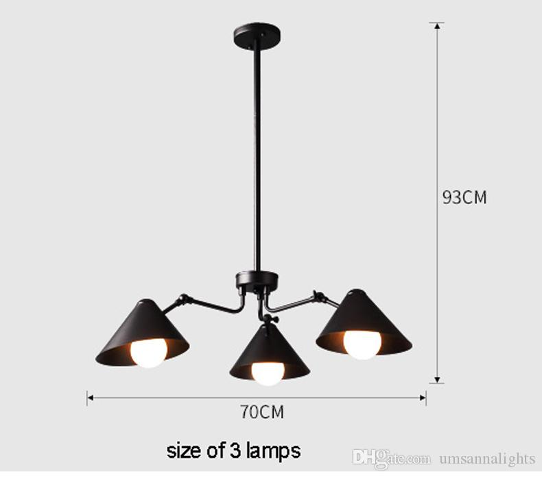 Modern Pendant Lamps LED Light American Work Office Pendant Lights Fixture Home Indoor Loft Dining Room Living Room Lighting Hanging Light