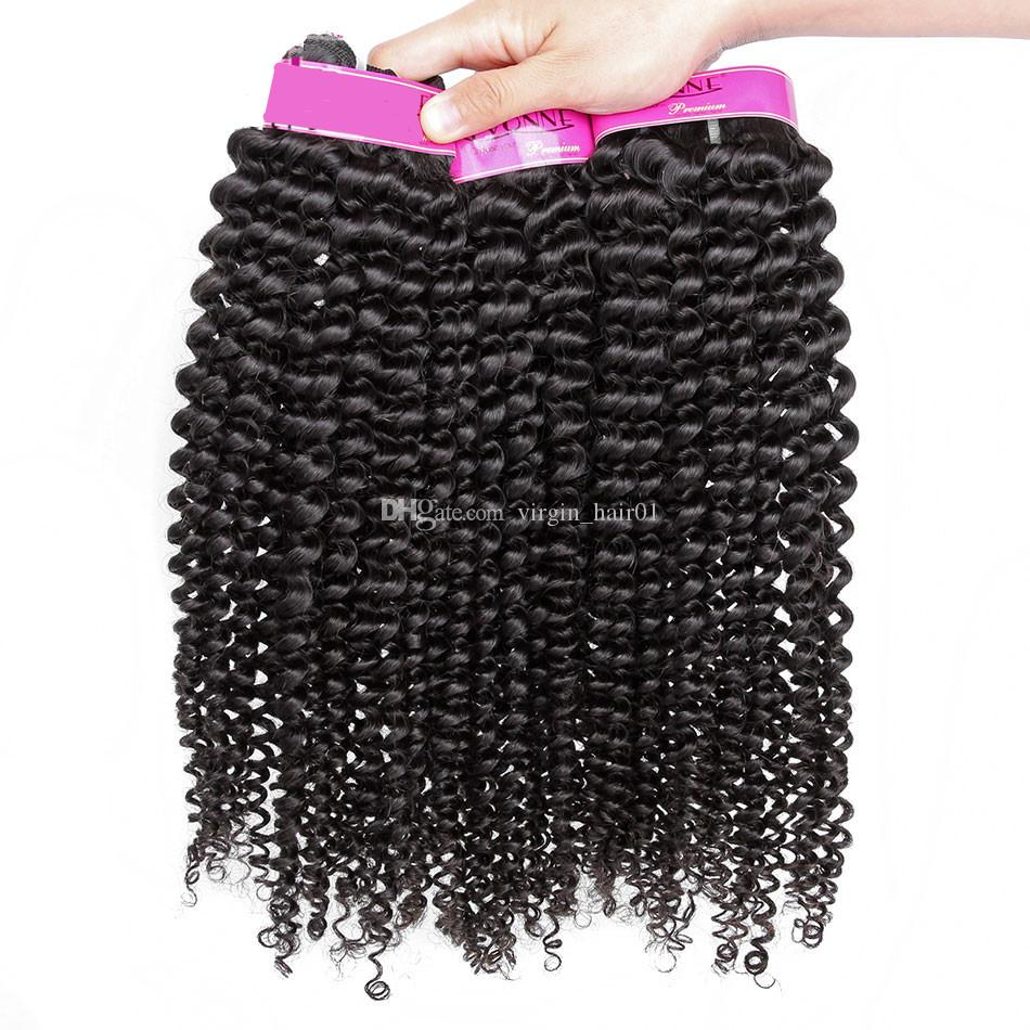 Brazilian Kinky Curly Bundles Human Hair Weft Natural Black #1b Remy Hair Extensions for Black Women Afro Kinky Curly Hair