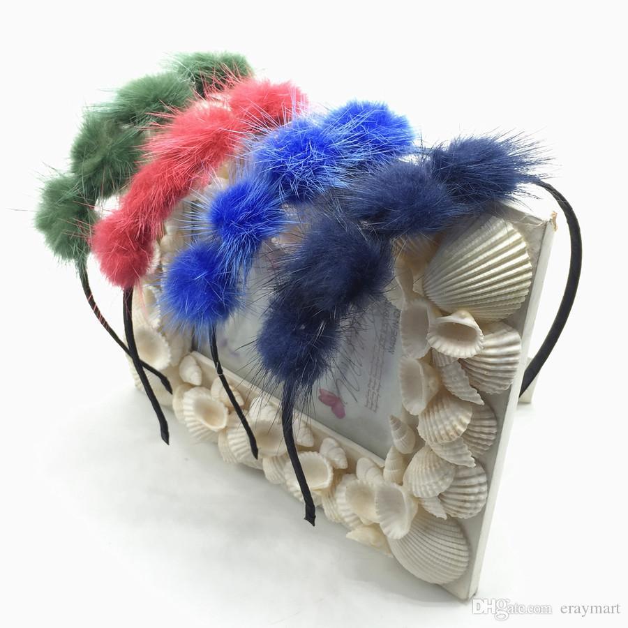 Girl's fluffy head hoop cute Venonat hair Sticks eight colors can choose