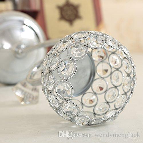 Metal Crystal Candle Tealight Holders Morcoccan Candlesticks Candle Lantern for Valentine's Day Table Vase Centerpieces Christmas Decoration