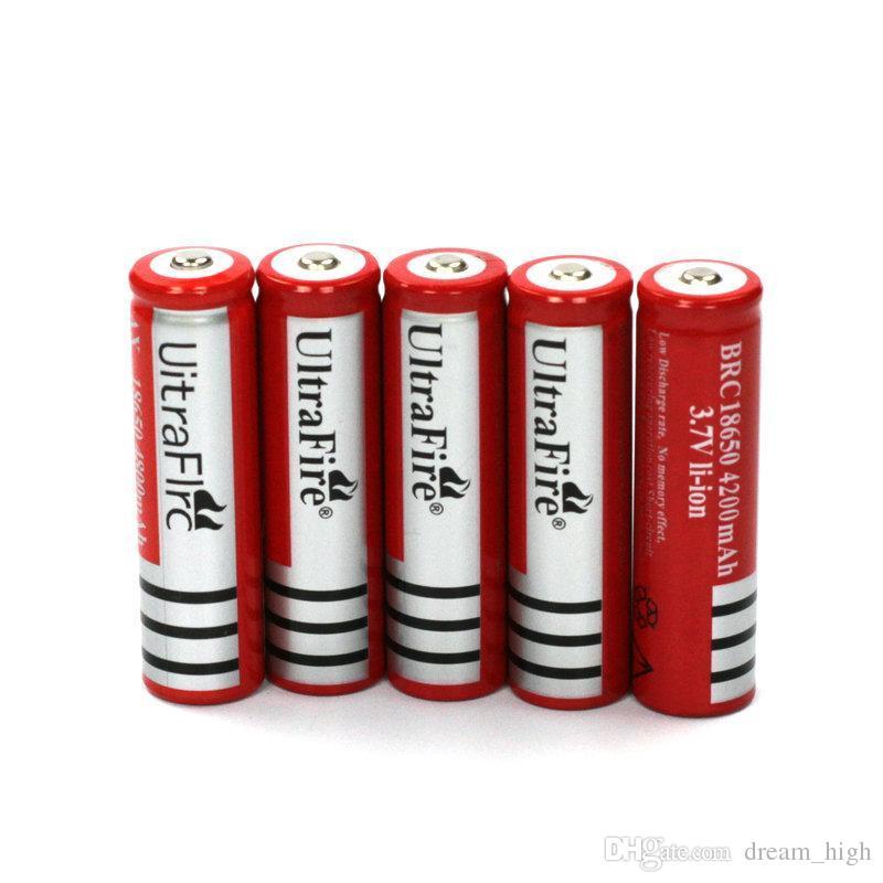 UltraFire 18650 4200mAh 3.7 فولت بطارية ليثيوم أيون قابلة للشحن عالية السعة مضيا كاميرا رقمية شاحن بطارية ليثيوم