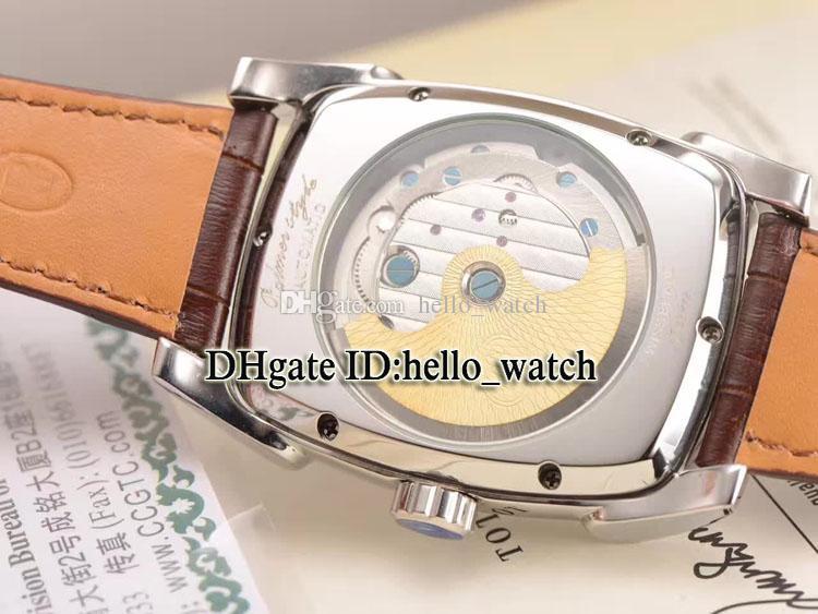 Marchio di alta qualità Tourbillon Kalpa XL PF011254.01 PF011255.01 44mm Automatic Machinery quadrante nero orologio da uomo in oro rosa orologio cinturino in pelle