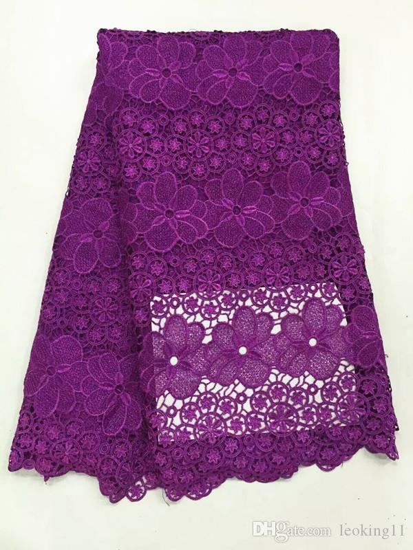 5 Yards/pc Hot sale red flower design mesh lace african guipure lace fabric french water soluble lace for clothes RW2-4