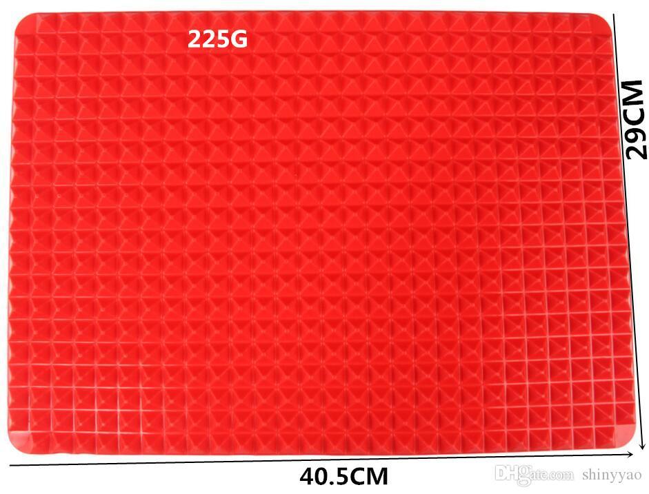 Esteiras não tecidas do cozimento da bandeja de Bakeware da pirâmide do silicone da categoria de FDA