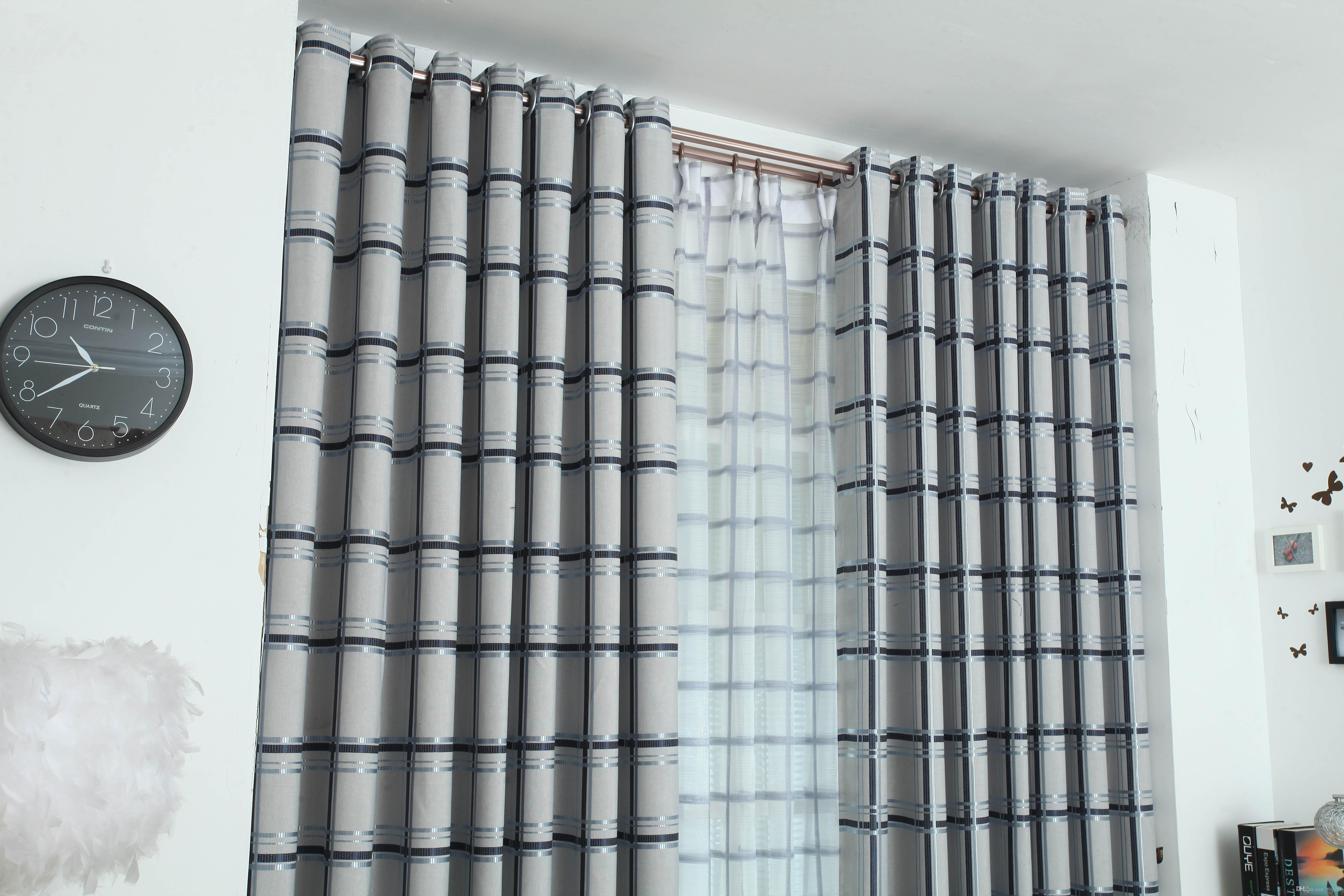 2018 Modern Simple Living Room Special Offer Curtain Fashion Bay Window  Floor To Ceiling Windows Semi Shading Custom Curtains From Yokittt, $6.04 |  Dhgate.