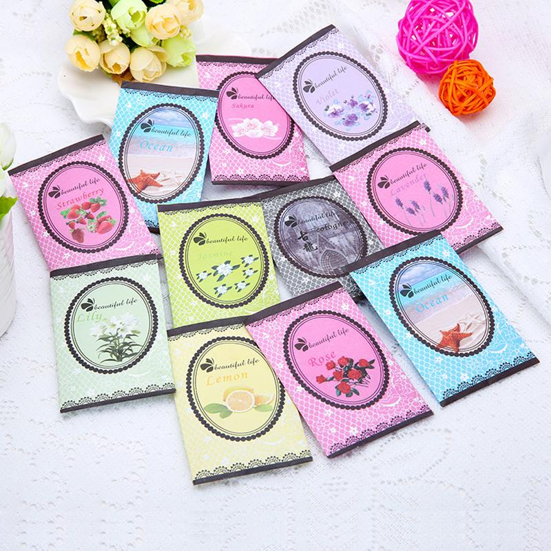 Wholesale- OHUHU 10pcs/lot Smell Scented Sachet Bag Fragrance Home Wardrobe  Drawer Car Sachet Mini Pouch Bag High Quality