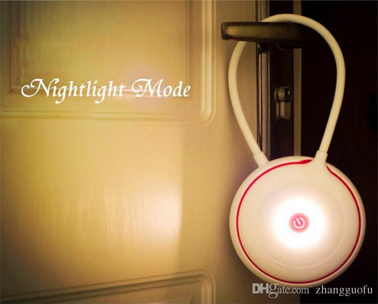 Portable YOYO LED Lamp with 3 modes flashlight/table lamp/nightlight Touch Sensor ON/OFF Switch Built-in Rechargeable Battery with USB Cable