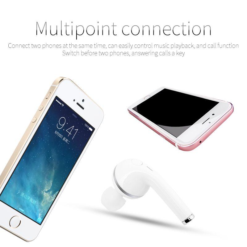 V1 Auricolare Bluetooth senza fili con microfono 4.1 Stero singolo orecchio musica Sport Headset universale telefono /