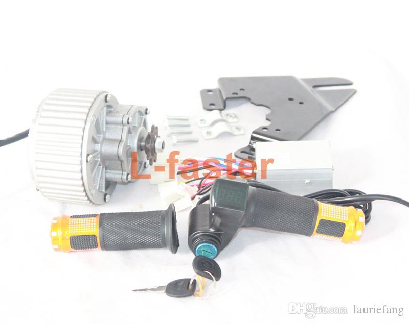 250 Watt / 450 Watt Elektromotor Easy Kit Controller Drosselklappenschalter Batteriespannungsanzeige Hochwertiger Elektrofahrzeugmotor