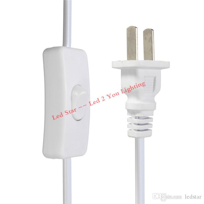 T5 T8 커넥터 케이블 2 피트 3 피트 4 피트 5 피트 6 피트 확장 코드 스위치 미국 Led 튜브 전원 케이블에 대 한 플러그