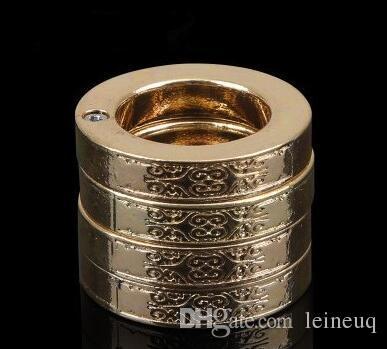 Золото и серебро кольца самообороны кольцо из нержавеющей стали одно кольцо разворачивается в четыре кольца обороны кулака Бесплатная доставка