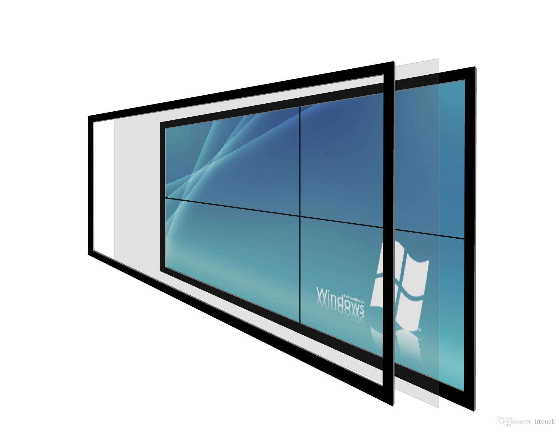 6points 65 inch Infrared IR Touch Screen frame, tea table,LCD monitor or  TV, advertising,,GAME MACHINE,windows XP/7/8 and Android,