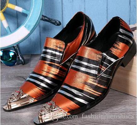 남성 비즈니스 댄스 신발 유럽 남성 복장 구두 패션 남성 가죽 신발 지적 발가락 남성 브로 거로 퍼스 신발
