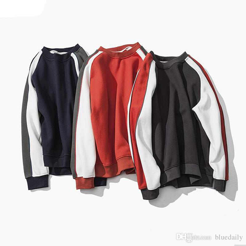 Fashion Brand Casual Sweatshirt O-Neck Patchwork Slim Fit Knitting Mens Hoodies And Pullovers Men Pullover