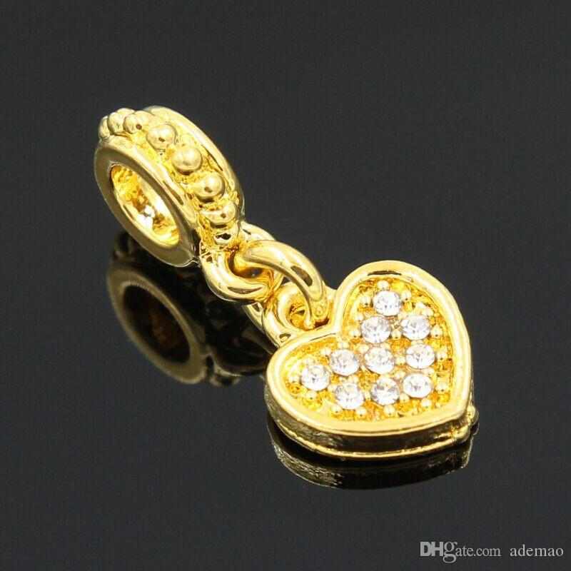 30pcs/LOT newest golden color beads pendants diy for The jewelry manufacturers selling alloy bracelet diy accessories charms
