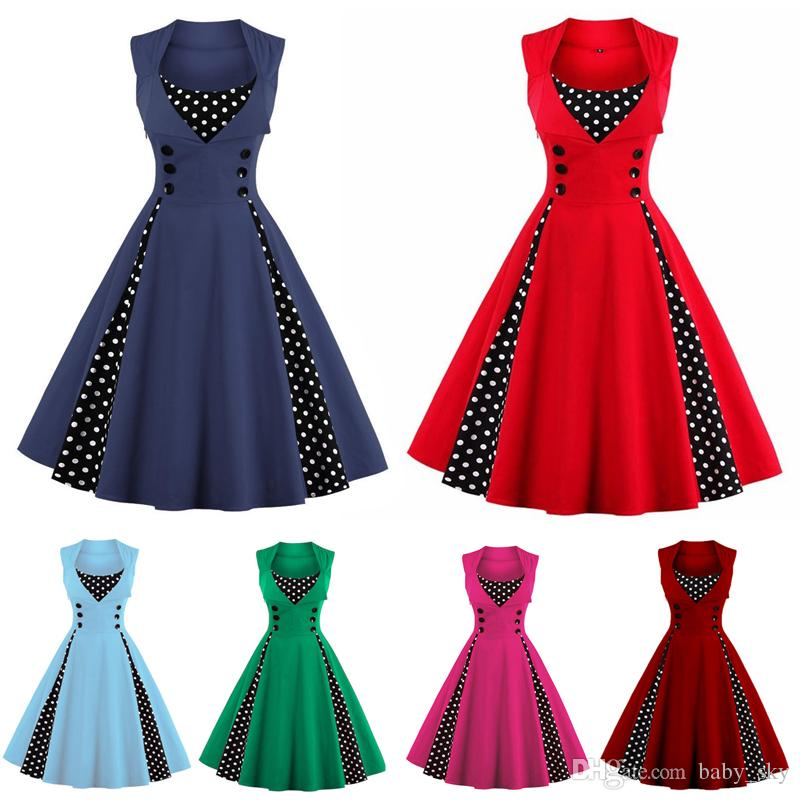 Vintage Plus Size Dresses For Womens Clothes Summer Casual Prom Sexy