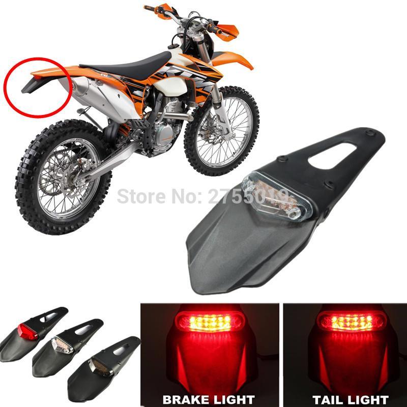 Arrière Frein Scooter Feux Moto Bike Led Stop Enduro Trial De 3 12 Universal Arrières Couleurs Fender Yb67yfgv