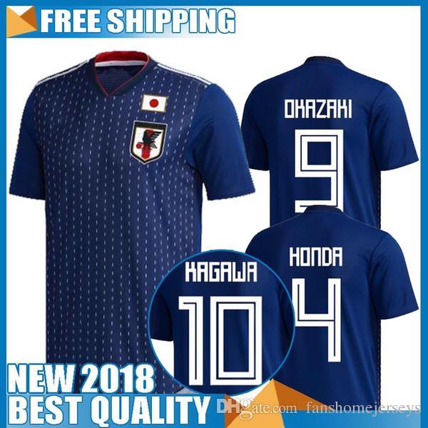 ae2459f67ef 2019 2018 World Cup Japan Soccer Jersey 2018 Japan Home Blue Soccer Shirt   10 KAGAWA  9 OKAZAKI  4 HONDA Football Uniform 2018 World Cup From ...