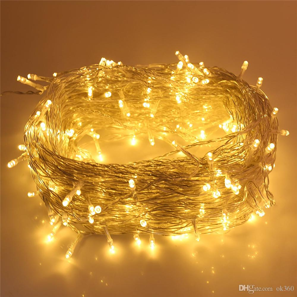 cheap led string lights 164ft50m outdoor string lights 250 led warm white dimmable outdoor lights ambiance lighting for home patio party festival battery