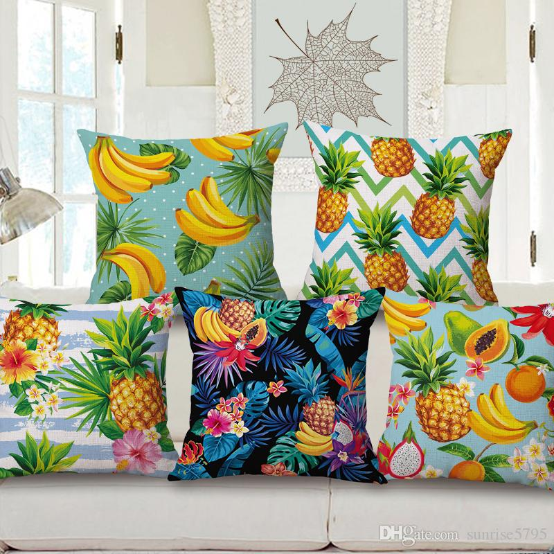New Tropical Cushion Cover Jungle Banana Throw Pillow Case