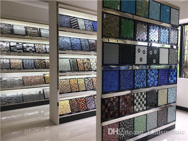 Hexagon Elegante Farben Metall Selbstklebende Mosaikfliesen Für Wand,  Aluminium Kunststoff Panel Selbstklebende Mosaik