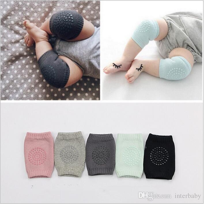 Baby Knee Protector Anti Slip Knee Pads Kids Cotton Socks Newborn Safety Crawling Elbow Cushion Baby Leg Warmers Toddler Leggings New B2307
