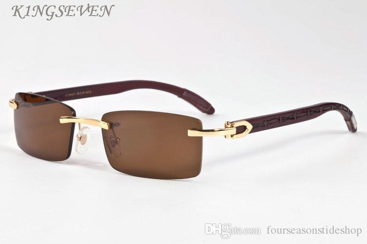 الخشب النظارات الشمسية النظارات الجديدة قرن الجاموس الأزياء كبيرة الحجم للمرأة أزياء النظارات الشمسية الإطار الأسود العدسات واضحة البني الصيد الرجال الزجاج الشمس