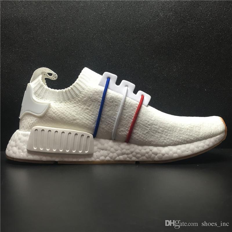 Hot Cheap Nmd R1 Monochrome Primeknit Pk Running Shoes For