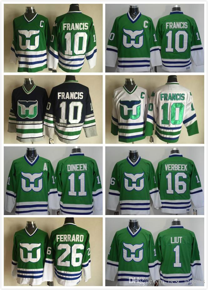 8d67dbbc1 hartford whalers 10 ron francis 1 mike liut 11 kevin dineen 16 pat verbeek  26 ray