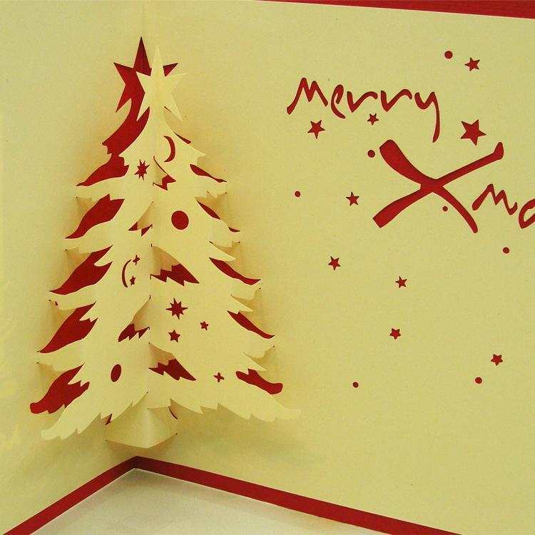 laser cut wedding invitations handmade 3d pop up christmas cards cubic christmas cards order christmas cards paper greeting card from okbrand - Laser Cut Christmas Cards