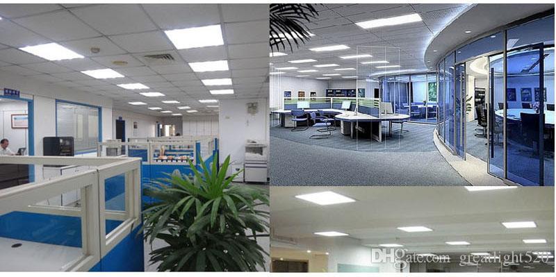 300x300mm / 300x600mm / 600x600mm Panel grande LED Lámpara de techo empotrada Lámpara de techo Lámpara de techo interior Iluminación de techo 12W / 18W / 24W / 36W / 48W