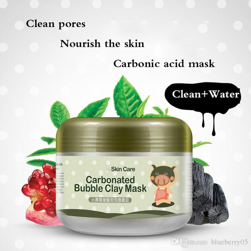 Carbonated Bubble Clay Mask Cleansing And Moisturizing Facial Mask Oil Control Face Mud Mask free shopping
