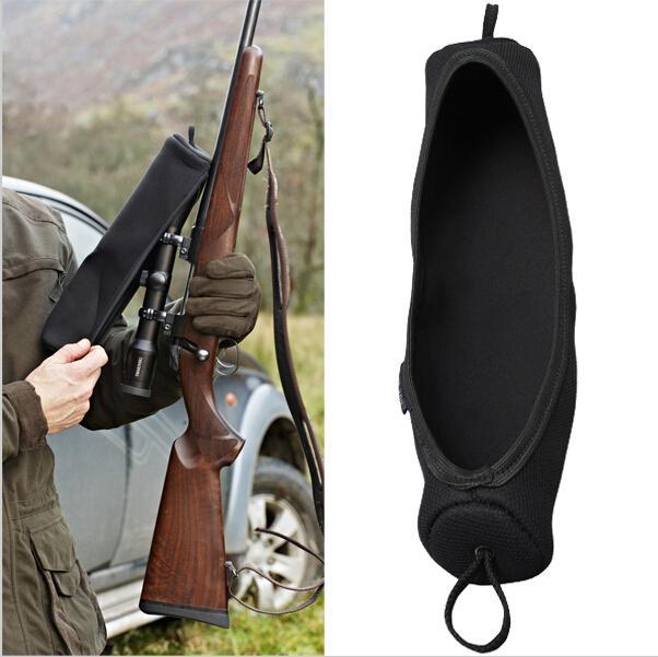 Accesorios de pistola de caza Tourbon de gran tamaño cubierta del alcance del rifle de neopreno de color negro para la caza de tiro militar