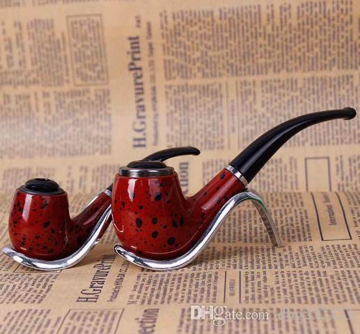 Doble uso Tubo de resina de baquelita Filtro extraíble Curvado Mini Inserción Barril Rojo Hombres Martillo fumar