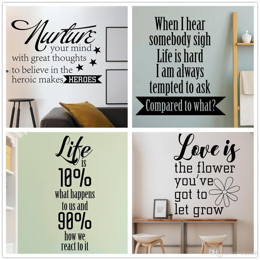 Love Life Quote Wall Sticker Inspirational Wisdom Sayings Wall Decal