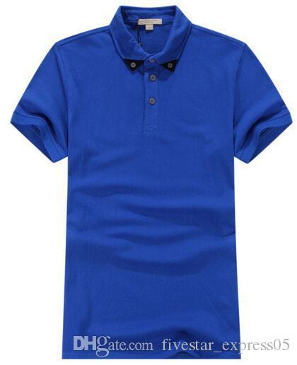 wholesale dealer a42c6 c9512 Herren Polo Shirt London Marken Slim Fit England Mode Lässig Feste Polo  Shirts Marke Kleidung Kurzarm Poloshirt Sommer Blau