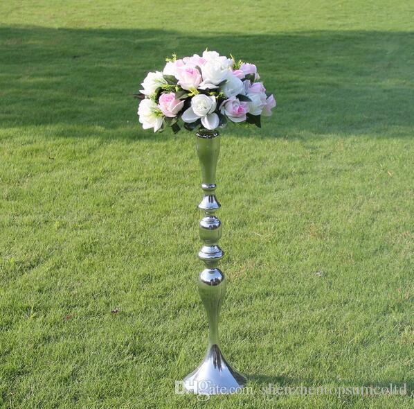 3 Kolor 73 cm Wysokość Metalowa Świeca Uchwyt Świeca Stojak Ślubny Centerpiece Event Drogowy Lead Flower Rack 10 sztuk / partia